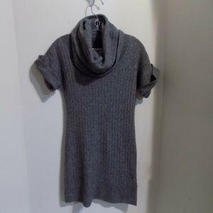 BANANA REPUBLIC Gray Cowl Neck Sweater Dress, XS